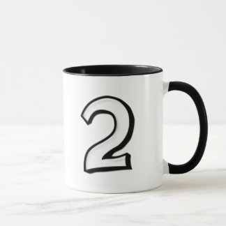 Silly Numbers 2 white Mug
