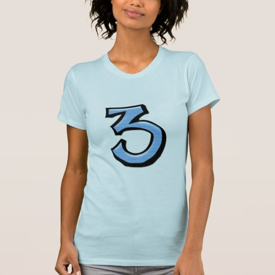 Silly Numbers 3 blue Ladies T-shirt