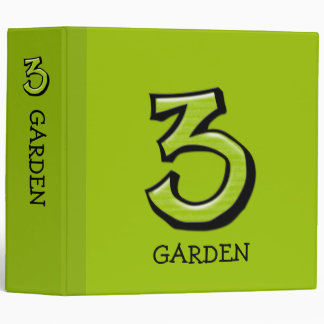 Silly Numbers 3 green Home Office Binder