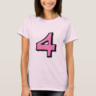 Silly Numbers 4 pink Ladies T-shirt