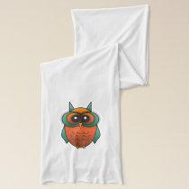 Silly Orange  Owl Scarf