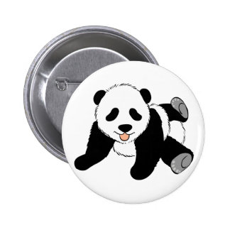 Silly Panda 2 Inch Round Button