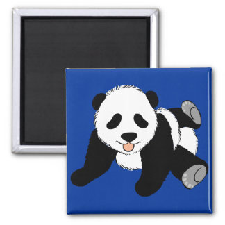 Silly Panda 2 Inch Square Magnet