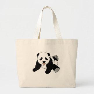Silly Panda Canvas Bag