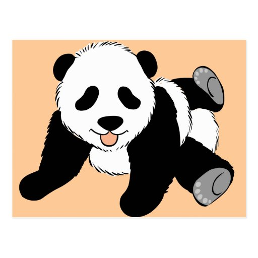Silly Panda Postcard