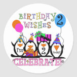 Silly Penguins 2nd Birthday T-shirts and Gifts Sticker