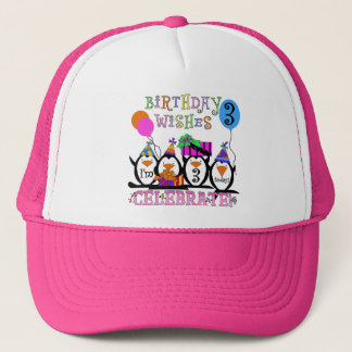 Silly Penguins 3rd Birthday Tshirts and Gifts Trucker Hat