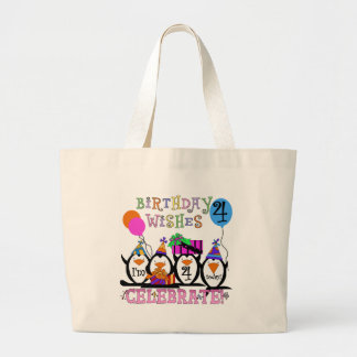 Silly Penguins 4th Birthday T-shirts and Gifts Tote Bags