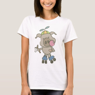 silly pig playing T-Shirt