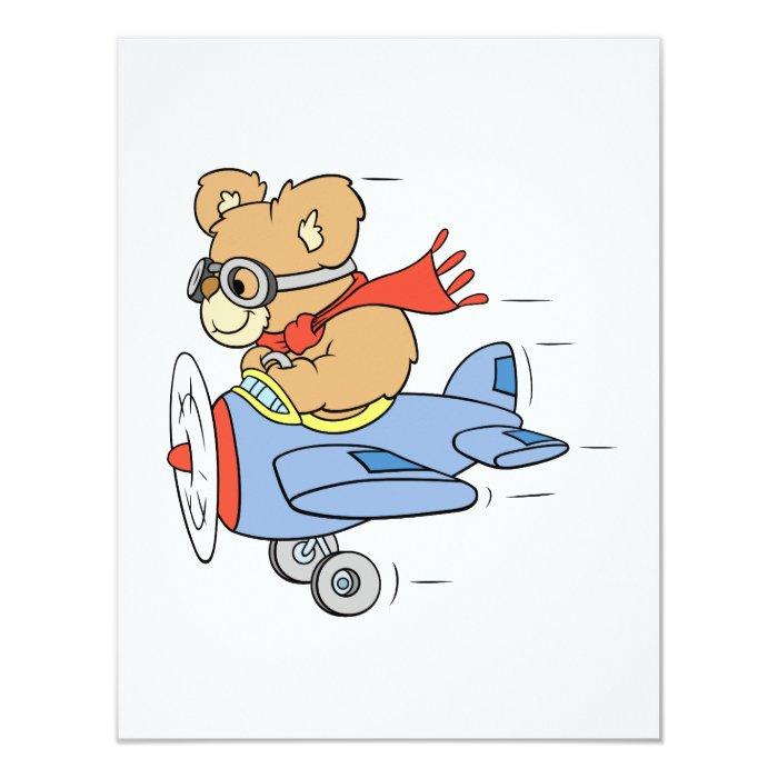 Silly Pilot Bear Card