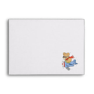 Silly Pilot Bear Envelope