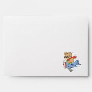 Silly Pilot Bear Envelopes