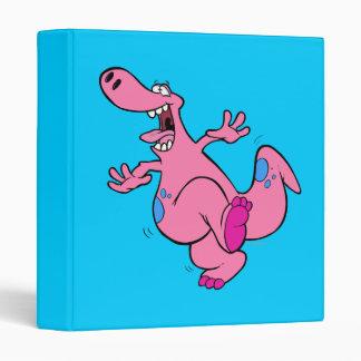 silly pink dancing dinosaur dino binder