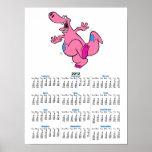 silly pink dancing dinosaur dino print