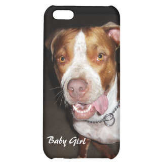 Silly Pitbull Portrait Cover For iPhone 5C