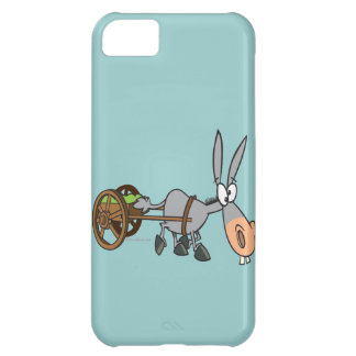 silly plodding donkey mule cartoon iPhone 5C cover