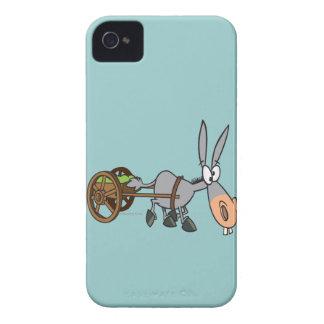 silly plodding donkey mule cartoon iPhone 4 Case-Mate case