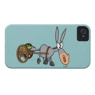 silly plodding donkey mule cartoon iPhone 4 covers