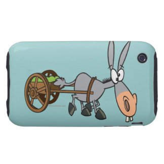 silly plodding donkey mule cartoon tough iPhone 3 covers