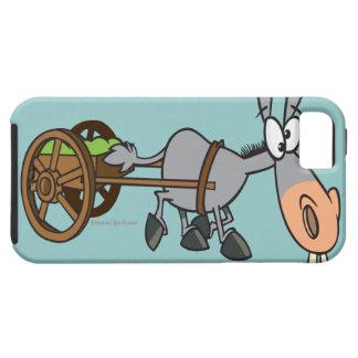 silly plodding donkey mule cartoon iPhone 5 case