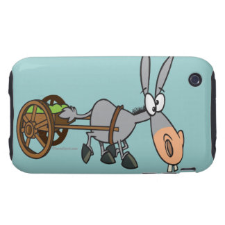 silly plodding donkey mule cartoon iPhone 3 tough covers