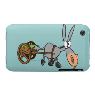 silly plodding donkey mule cartoon iPhone 3 covers