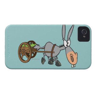 silly plodding donkey mule cartoon Case-Mate iPhone 4 case
