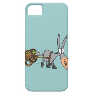 silly plodding donkey mule cartoon iPhone 5 cover