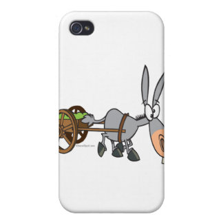 silly plodding donkey mule cartoon iPhone 4/4S case