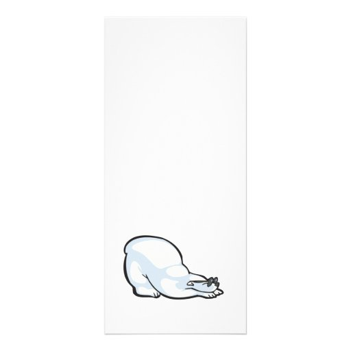 silly polar bear wearing sunglasses personalized rack card