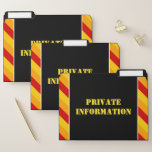 """[ Thumbnail: Silly """"Private Information"""" File Folder Set ]"""