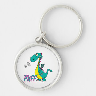 silly puff dragon cartoon character keychain