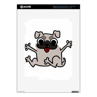 silly pug dog decals for iPad 3