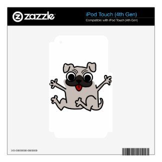 silly pug dog iPod touch 4G skin