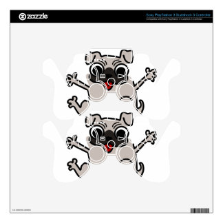 silly pug dog PS3 controller decals
