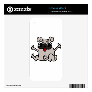 silly pug dog skins for iPhone 4S