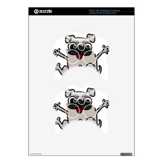silly pug dog xbox 360 controller decal