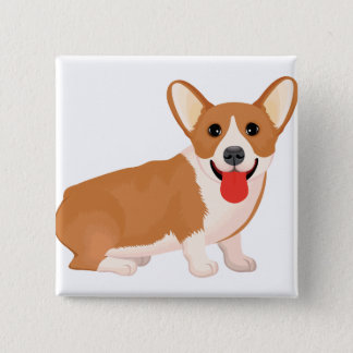 Silly Pup Pinback Button