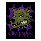 Silly Puppy Halloween Poster