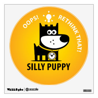 Silly Puppy Wall Decal