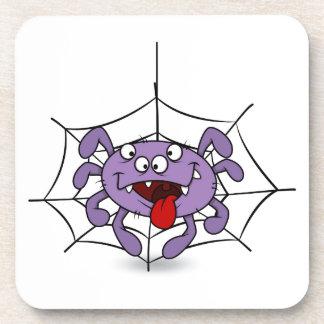 Silly Purple Cartoon Spider Coaster
