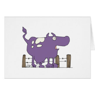 Silly Purple COw Cards