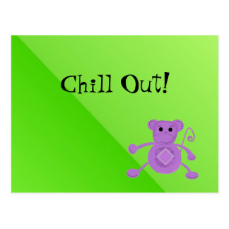 Silly Purple Monkey - Chill Out Postcard