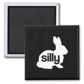 Silly Rabbit 2 Inch Square Magnet