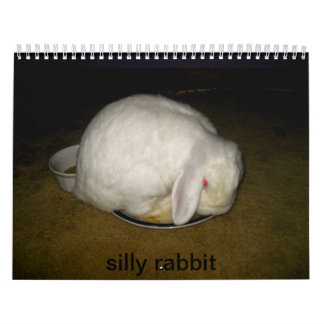 silly rabbit calendar