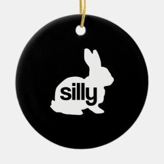 Silly Rabbit Ceramic Ornament