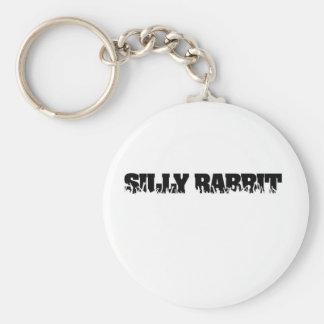 Silly Rabbit Merchandise Basic Round Button Keychain