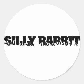 Silly Rabbit Merchandise Classic Round Sticker