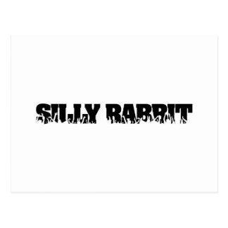 Silly Rabbit Merchandise Postcard