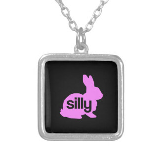 Silly Rabbit Square Pendant Necklace